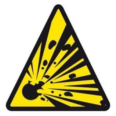 Etiqueta de Explosão