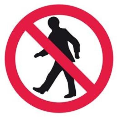 Etiqueta de Proibido Tráfego de Pedestres