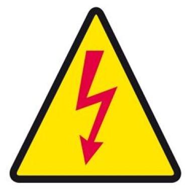 Etiqueta De Eletricidade Raio Vermelho