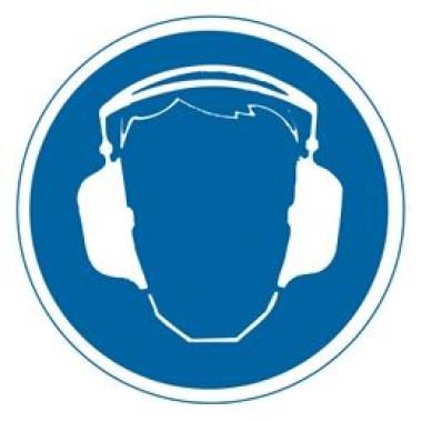 Etiqueta de Proteção Para os Ouvidos