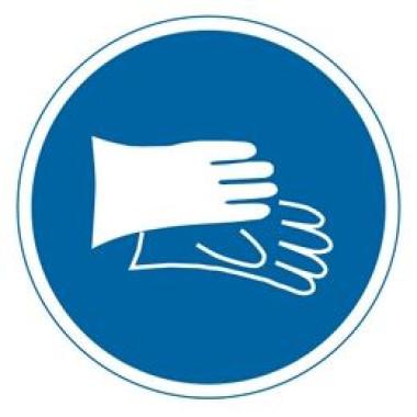 Etiqueta de Proteção Para as Mãos