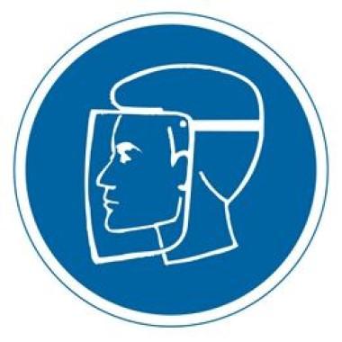 Etiqueta de Proteção Para o Rosto