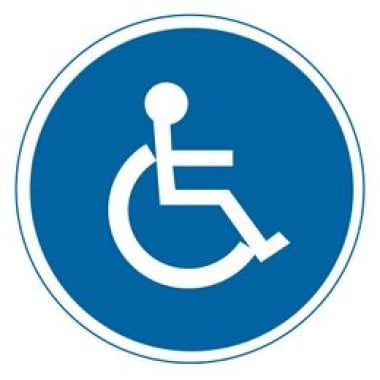 Etiqueta de Cadeirante