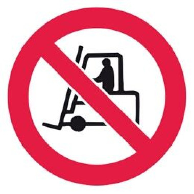 Etiqueta de Proibido Tráfego de Veículos Industriais