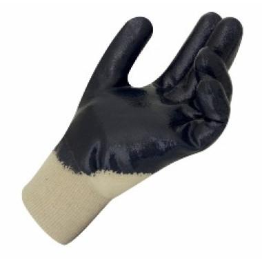 Luva Nitrílica com Suporte Têxtil – Dorso Ventilado