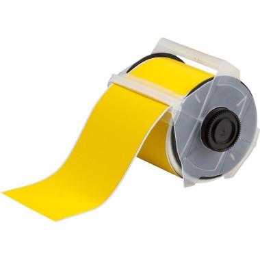 """Etiqueta de Poliéster Identificação de Metal Amarelo 4.00""""x50' - ToughWash"""