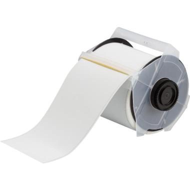 """Etiqueta de Poliéster Identificação de Metal Branco 4.00""""x50' - ToughWash"""