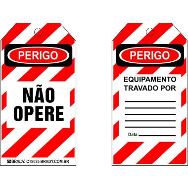 Cartão de Travamento - Perigo Não Opere