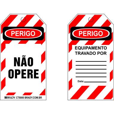 Cartão de travamento - Não Opere