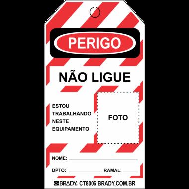 Cartão de travamento - Perigo Não Ligue
