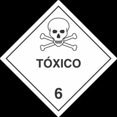 Etiqueta De Simbologia De Risco - Tóxico 6