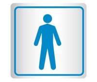 Placa de Banheiro | Pictograma Masculino